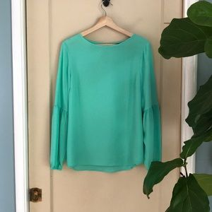 Apt. 9 mint blouse with balloon sleeves